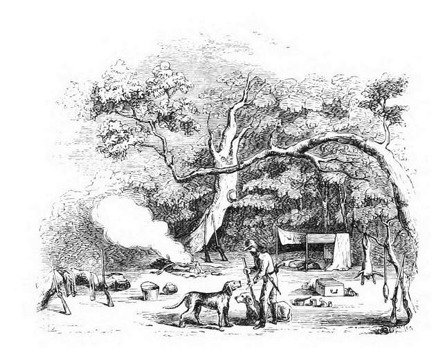 MARYATT(1855) p120 CAMPING OUT