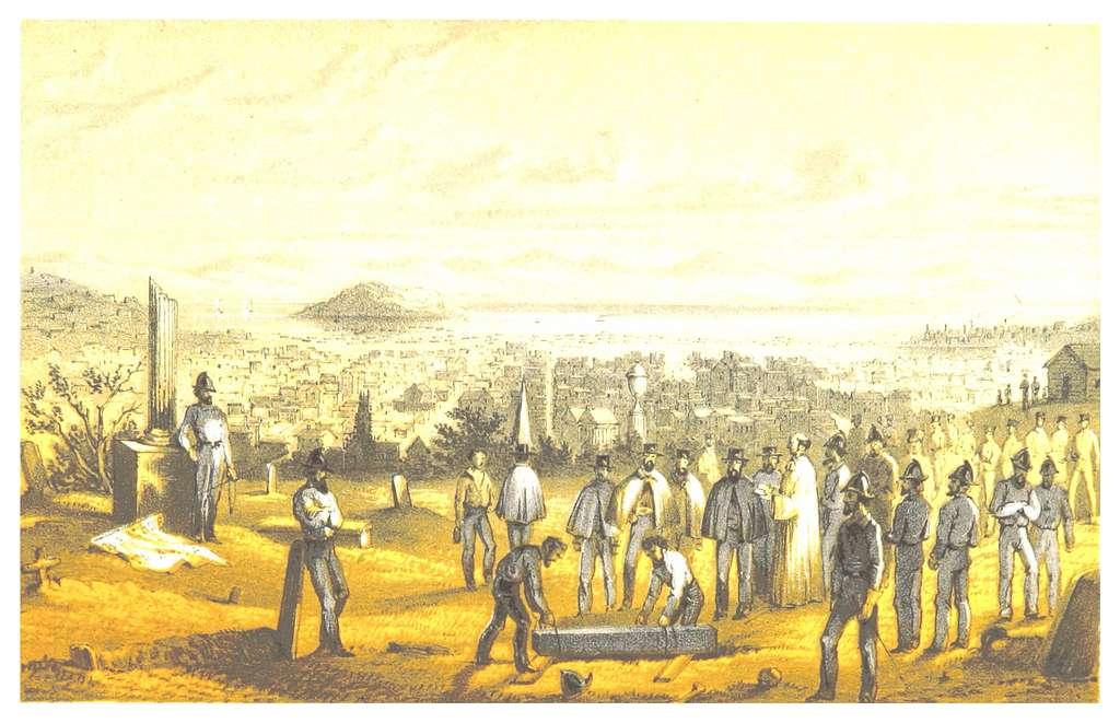 MARYATT(1855) p377 SAN FRANCISCO - A FIREMAN'S FUNERAL