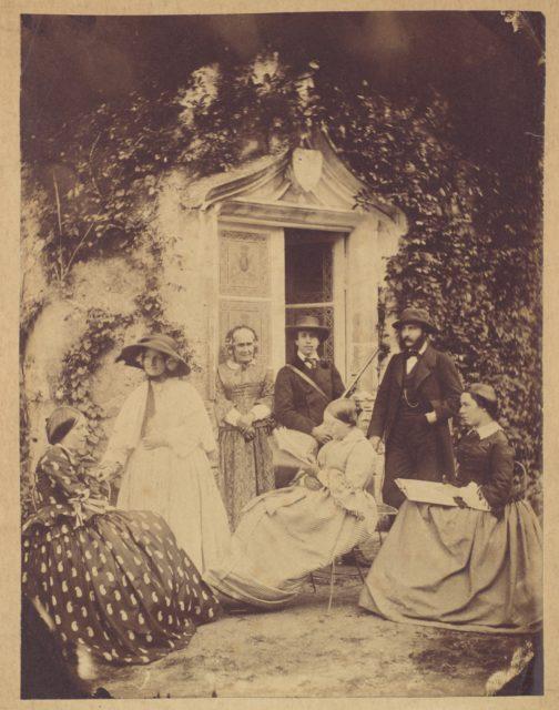 [Claudet Family Group, Chateau de la Roche, Amboise]