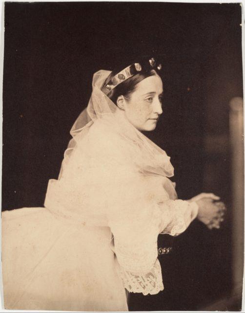 L'impératrice Eugénie en prière