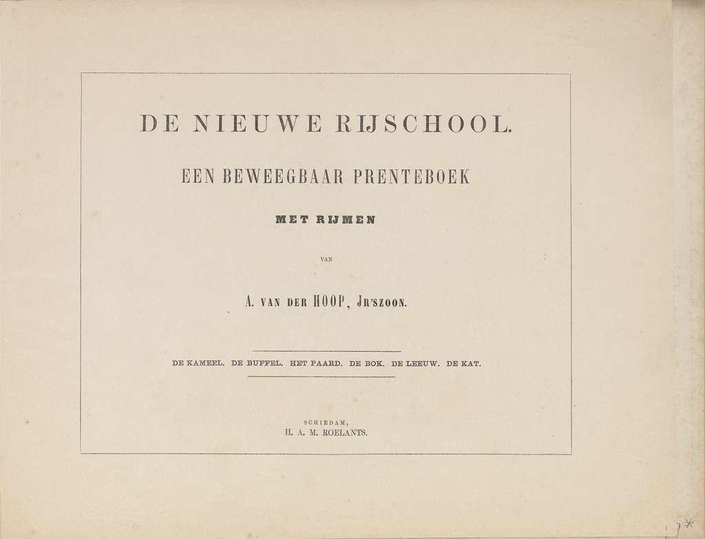 De nieuwe rijschool - KW 2281 A 136 - title page