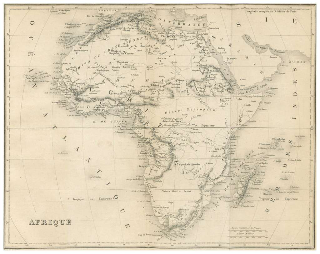 MALTE-BRUN(1856) 4.675 AFRIQUE
