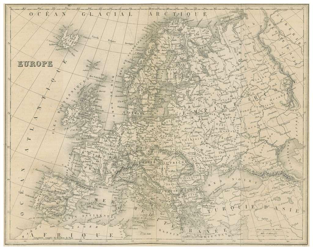 MALTE-BRUN(1856) 6.723 EUROPE