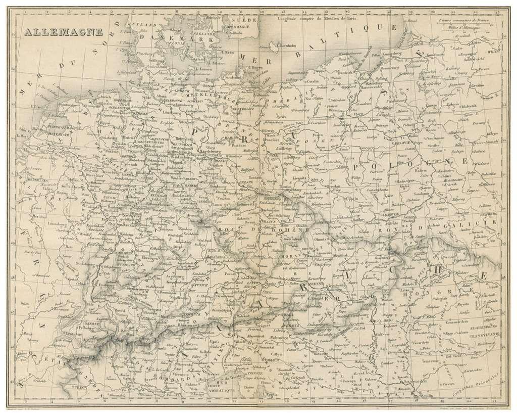 MALTE-BRUN(1856) 7.727 ALLEMAGNE