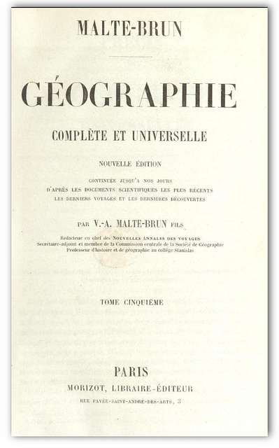 Malte-Brun(1856) Géographie complète et universelle Vol.5