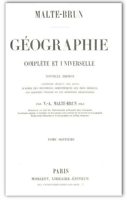 Malte-Brun(1856) Géographie complète et universelle Vol.7