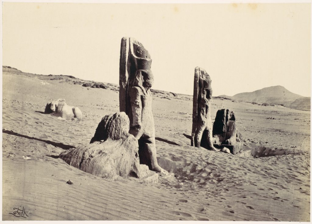 Colossi and Sphynx at Wady Saboua