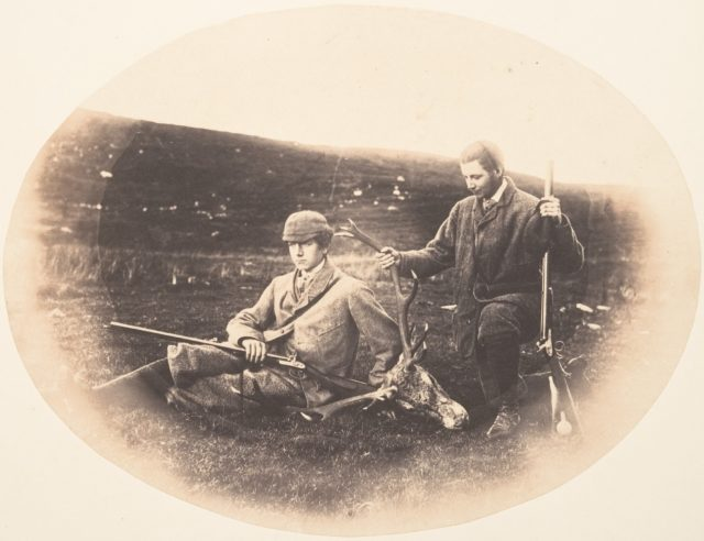 [Ned and Colin Ross with Hunt Trophy]