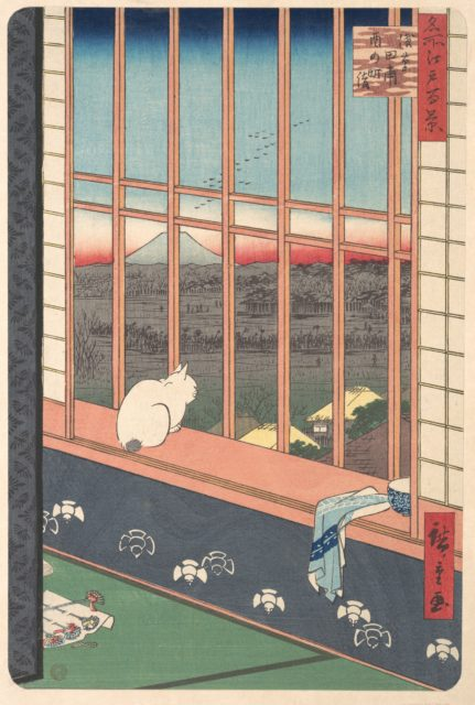 Revelers Returned from the Tori no Machi Festival at Asakusa, from the series One Hundred Famous Views of Edo