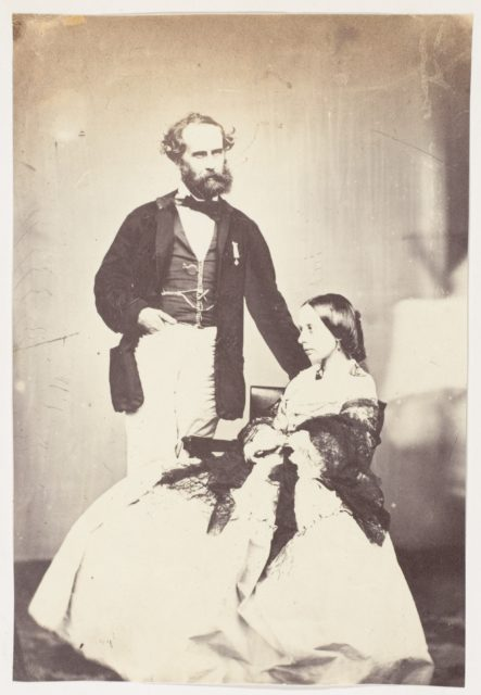 """[Colonel Vincent Eyre C.B. Bengal Artillery, """"The Hero of Arrah"""" and Mrs Eyre]"""