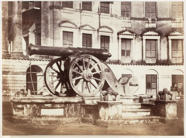 [Great Sikh Gun taken at Ferozshah on the Night of December 21, 1845, Government House, Calcutta]