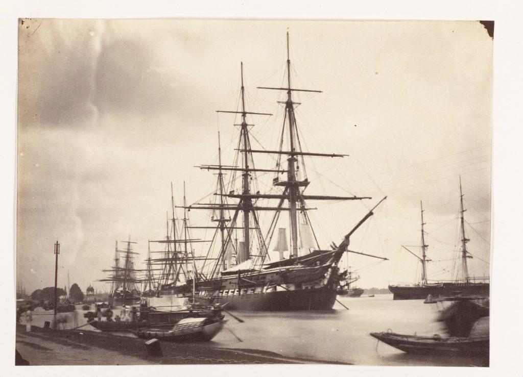 [H.M.S. Shannon off Calcutta]