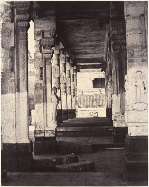 Side Colonnade in the Muroothappa Sarvacar Mundapam