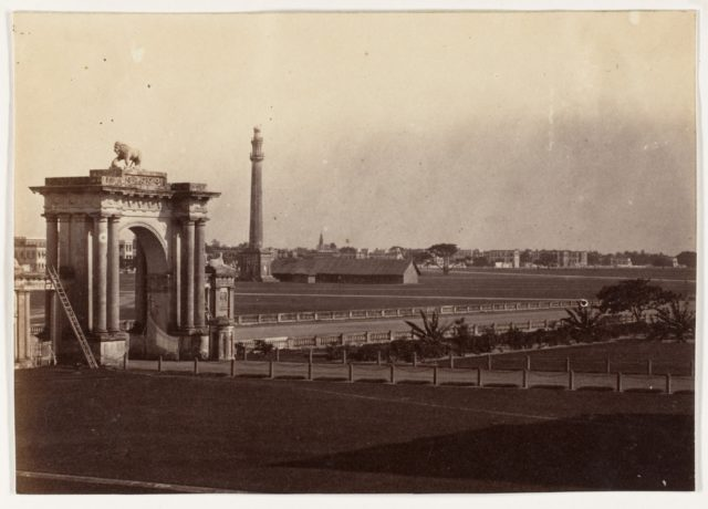 [View of Chowringhee from Government House, Calcutta]