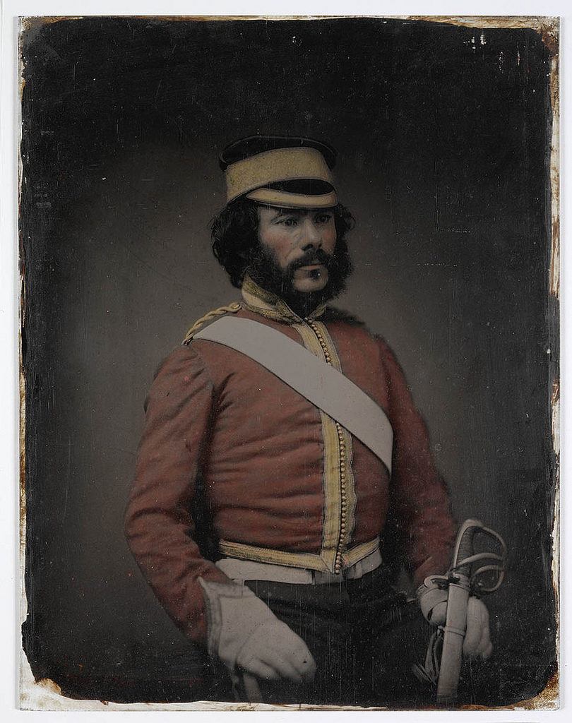 British Officer from Sir William Dixson's collection of ambrotype portraits, ca. 1857-1858, possibly by Thomas Glaister