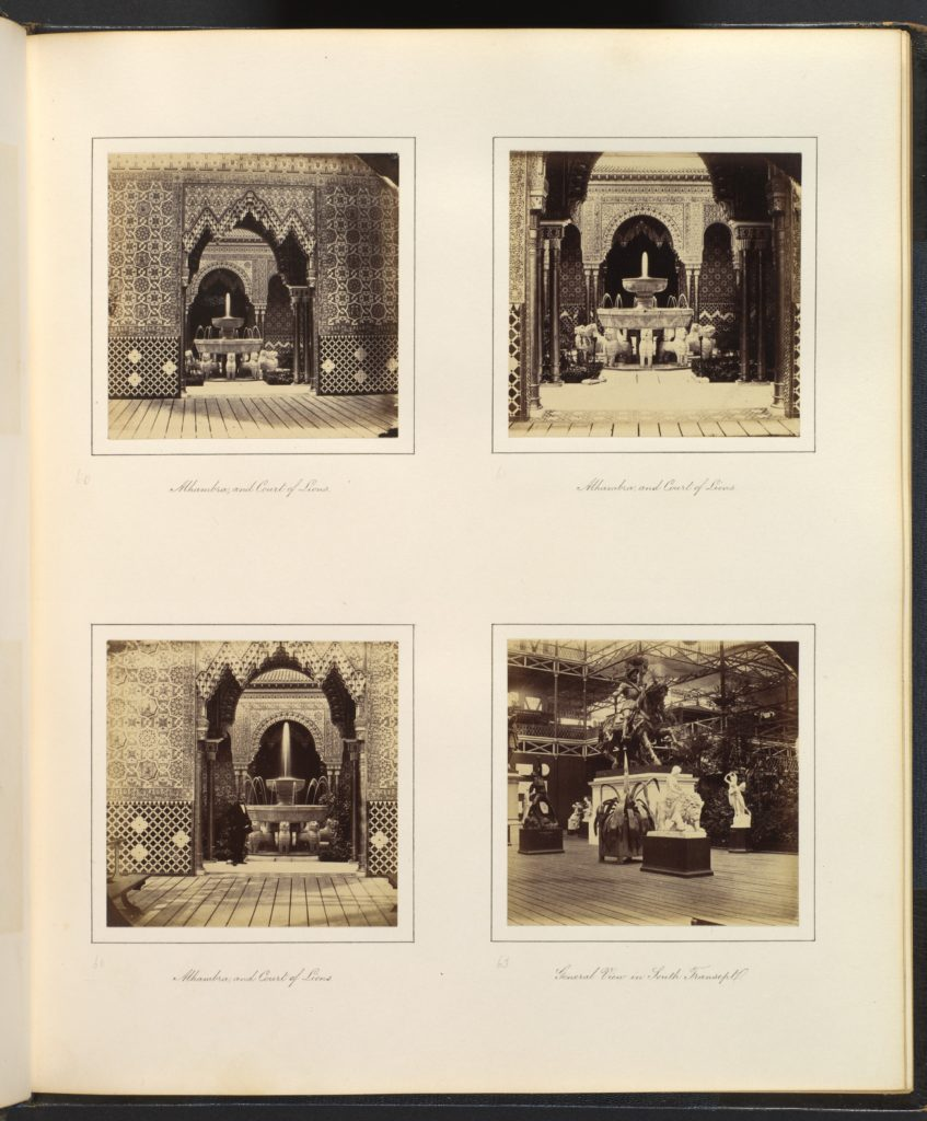[Alhambra and Court of Lions; View in South Transept]