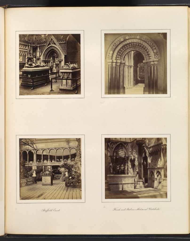 [Medieval Court; Entryway to Byzantine Court; Sheffield Court; French and Italian Mediaeval Vestibule]