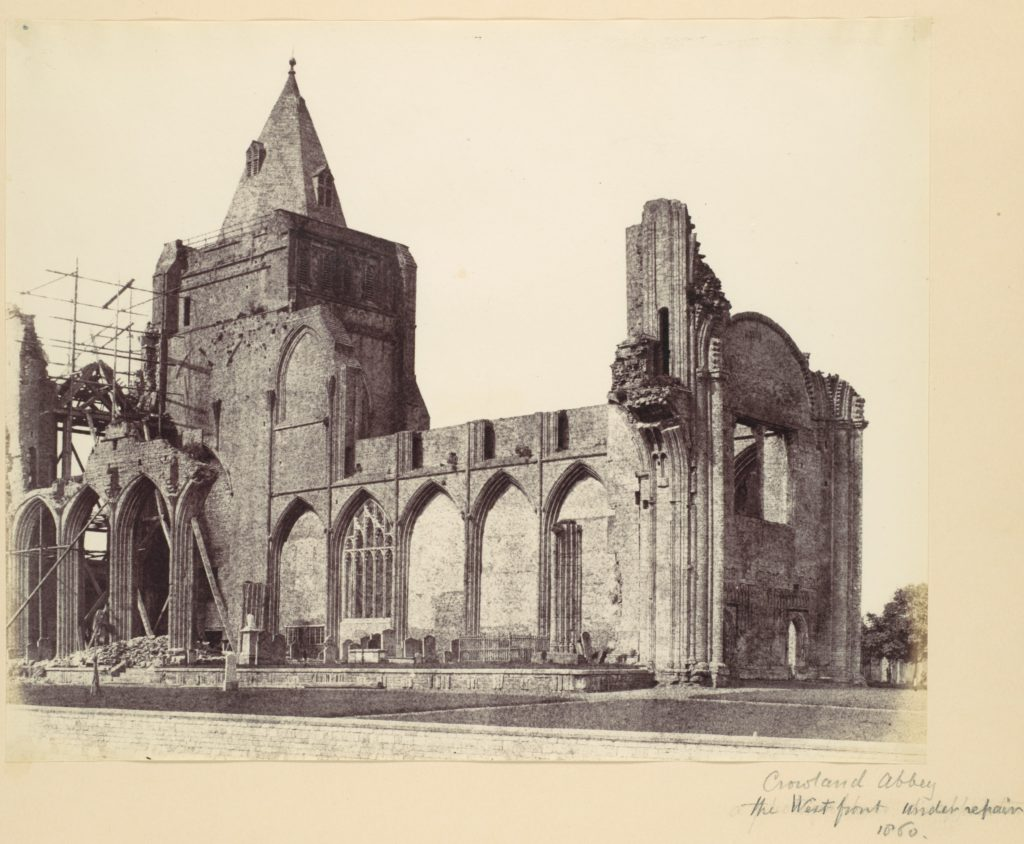 Crowland Abbey, the West Front Under Repair