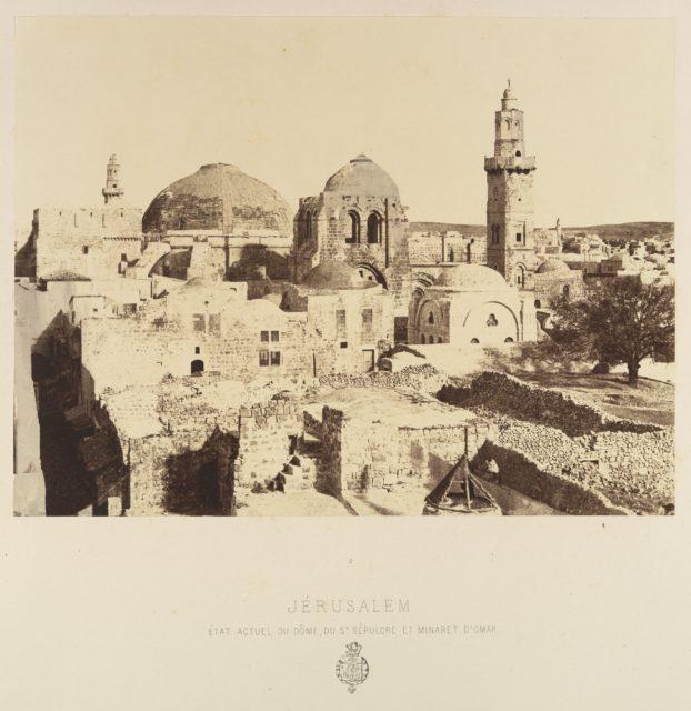 Jérusalem. État actuel du dôme, du St. Sépulcre et Minaret d'Omar