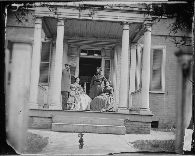 Brevet Brigadier General John E. Mulford, Colonel of 3rd New York Infantry, with His Wife and Mr. and Mrs. William Allen. This Picture was Taken on the Porch of Mr. Allen's House at Richmond, Virginia.