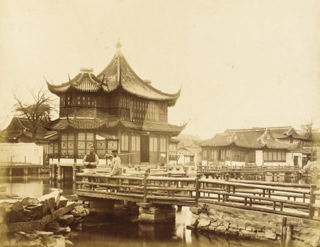 Footbridges and Elaborate Commercial Building, S. China