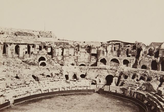 Interior of the Amphitheatre, Nimes