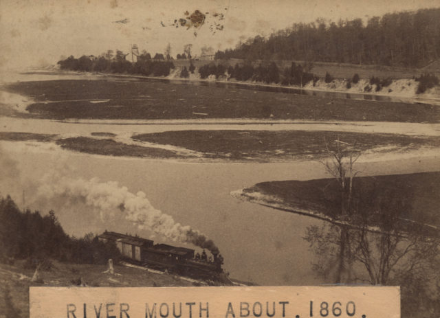 River mouth about 1860