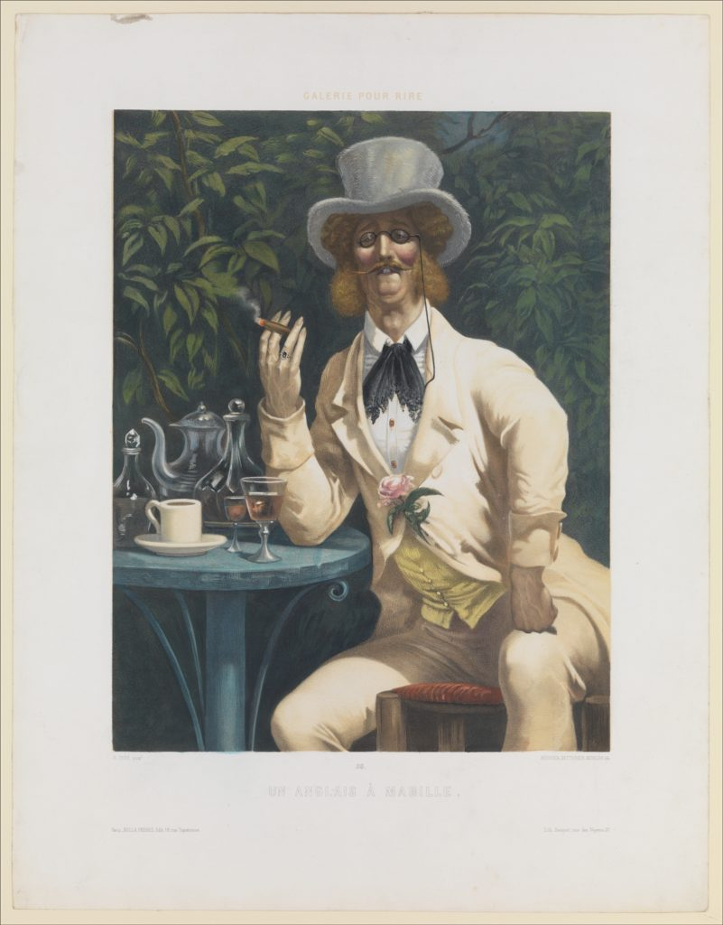 An Englishman at Mabille (Un Anglais à Mabille), from Galerie pour Rire, no. 34