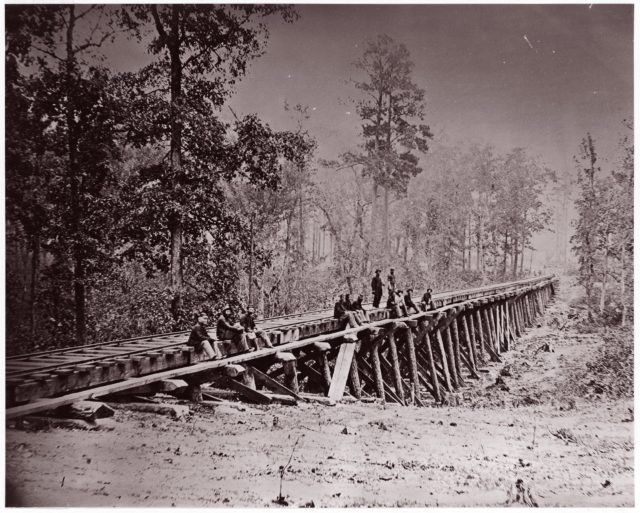 Bridge. U.S. Military Railroad at City Point