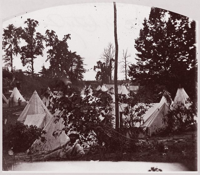 Camp of Construction Corps, U.S. Military Railroad, at City Point