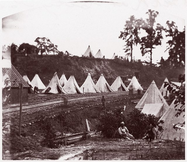 Camp of Construction Corps, U.S. Military Railroad at City Point
