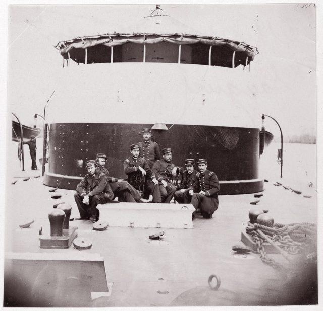 "[Crew of U.S. Monitor ""Saugus""].  Brady album, p. 172"