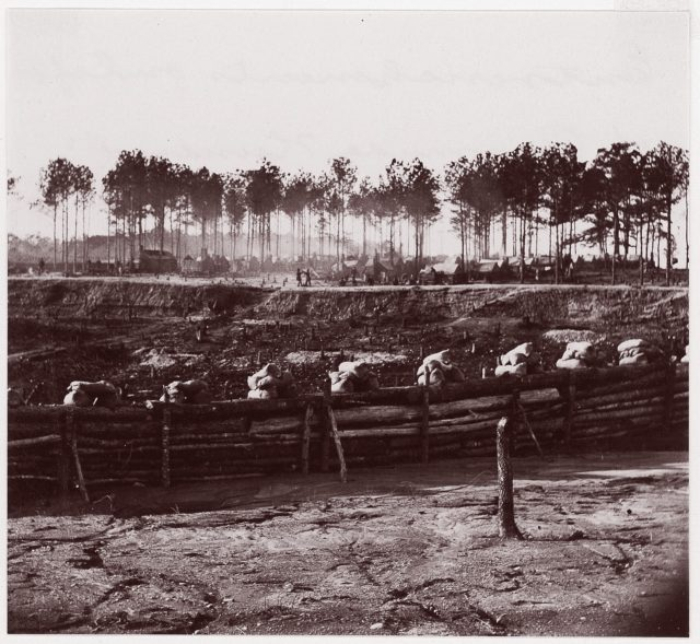 Entrenchments on left of Bermuda Hundred Lines