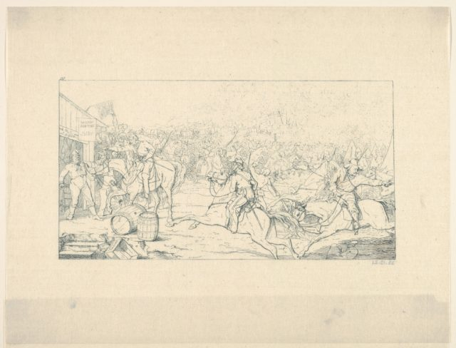 General Stuart's Raid to the White House (from Confederate War Etchings)