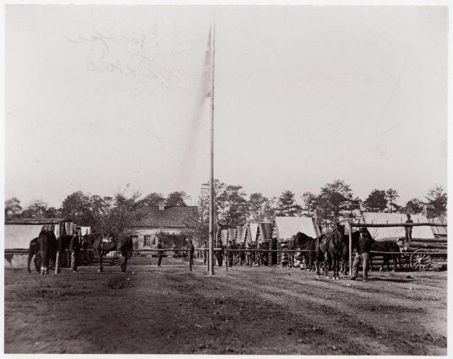 Headquarters, 10th Army Corps, Hatcher's Farm, Virginia
