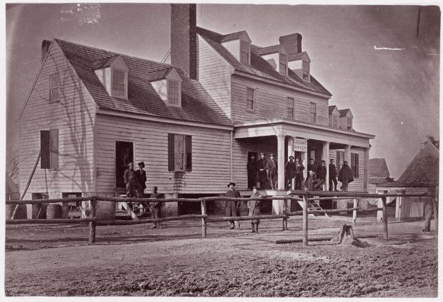 Headquarters of Capt. E.E. Camp, A.Q.M., at City Point, Virginia