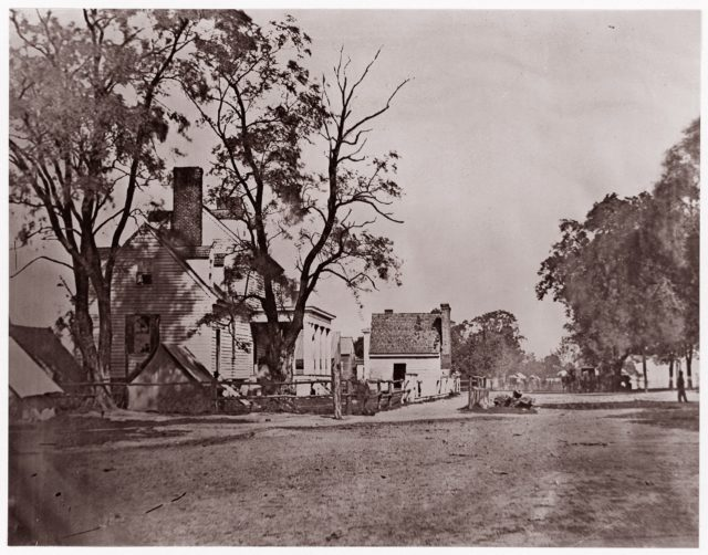 Headquarters of Capt. H.B. Blood, A.Q.M., at City Point, Virginia