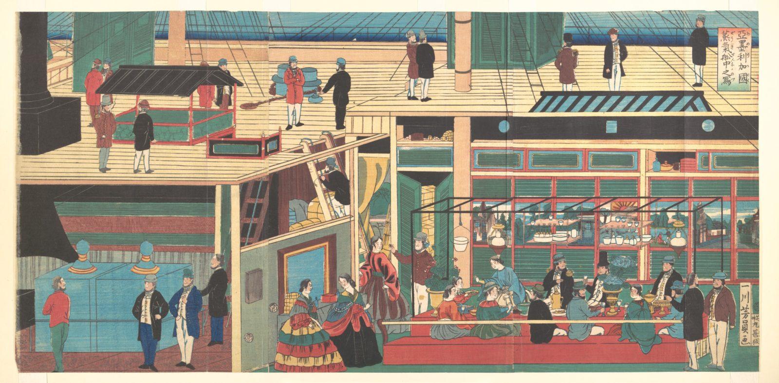 Interior of an American Steamship