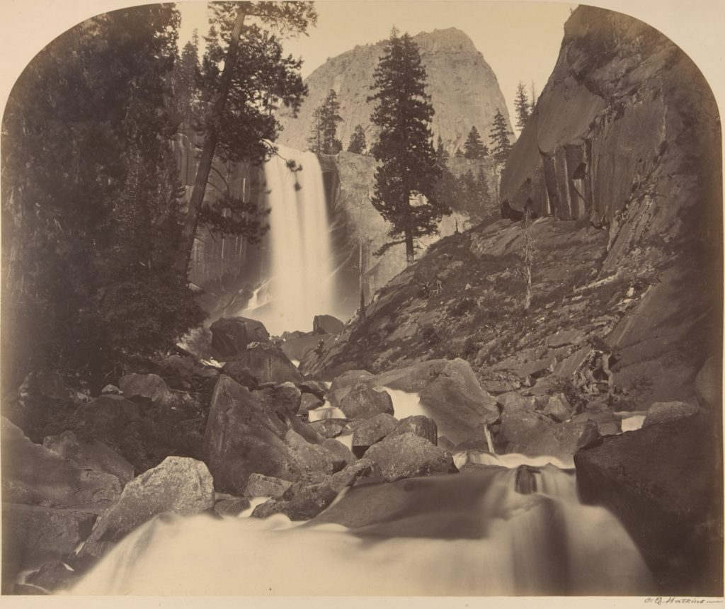 Mt. Broderick in Distant Centre, Piroyac, Falling Chrystals, Vernal Fall