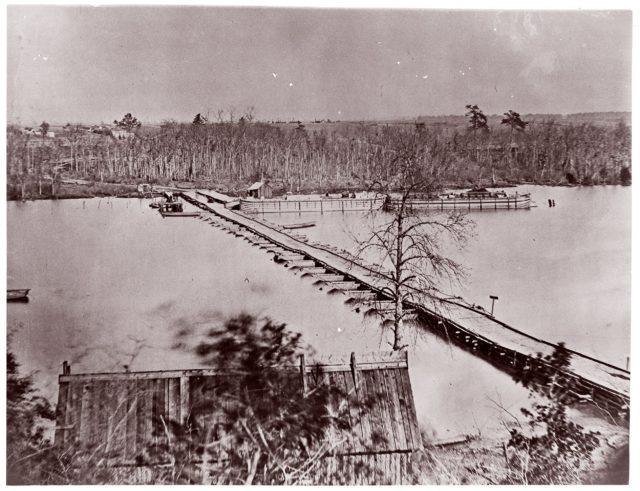 Pontoon Bridge, Broadway Landing, Appomattox River