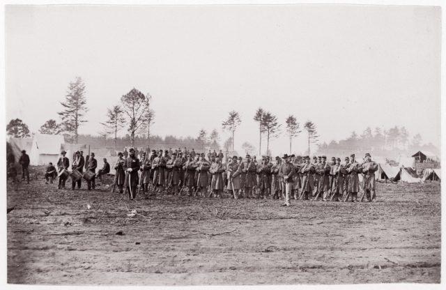 [Regiments - unidentified].  Brady album, p. 156