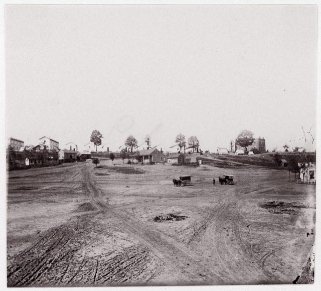 [Roads leading into a small town].  Brady album, p. 123