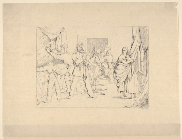 Searching for Arms (from Confederate War Etchings)