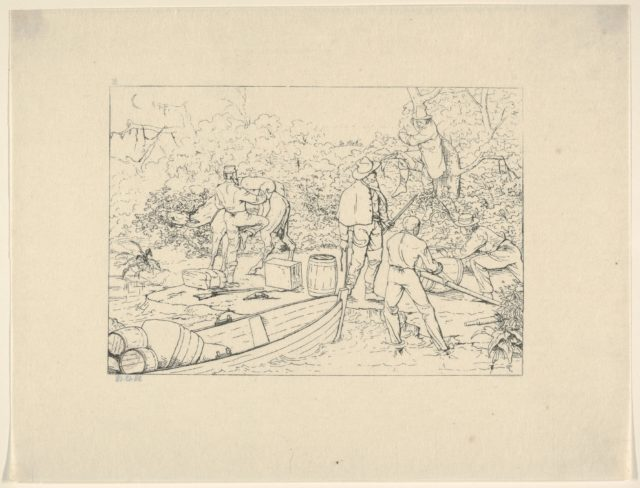 Smuggling of Medicines into the South (from Confederate War Etchings)