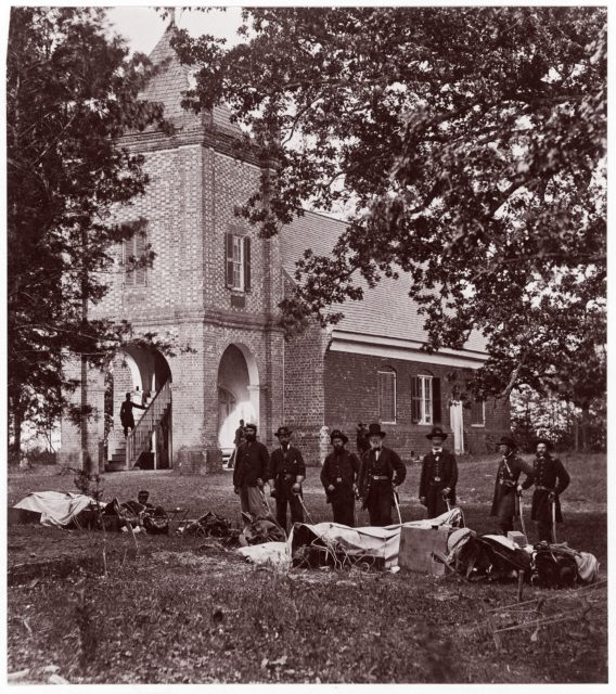 St. Peter's Church near White House, Where Washington was Married.  General E. V. Sumner and Staff