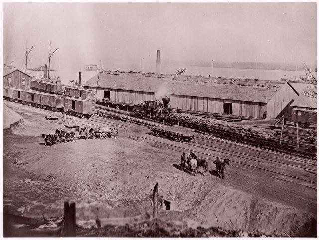 Terminus of U.S. Military Railroad, City Point, Virginia