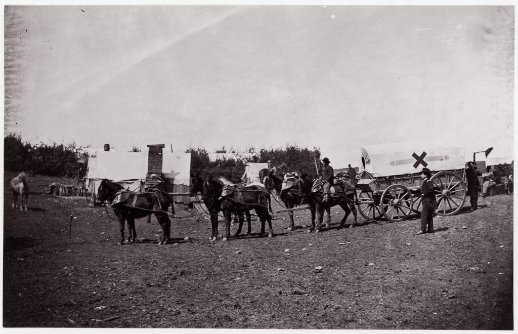 The Crack Team of the 1st Division, 6th Corps near Hazel River, Virginia
