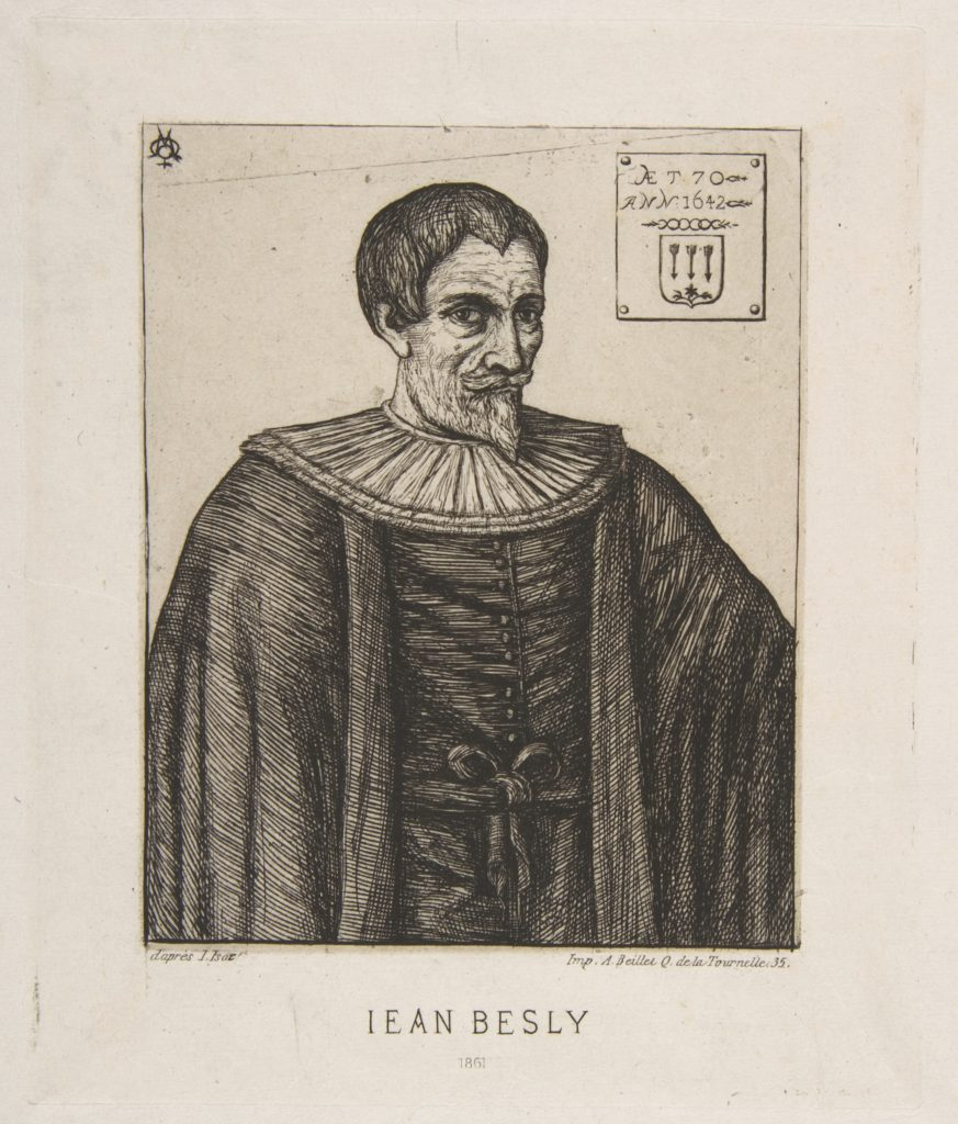 The historian John Besly, after Jaspar Isaac