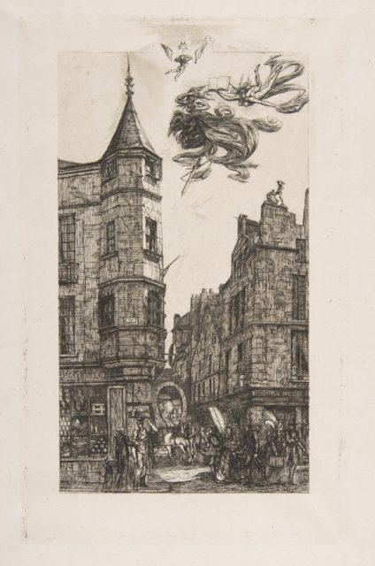 Tourelle Rue de l'Ecole de Médecine, 22 (House with a Turret, No 22, rue de l'Ecole de Médecine, Paris) (called the Turret of Marat)