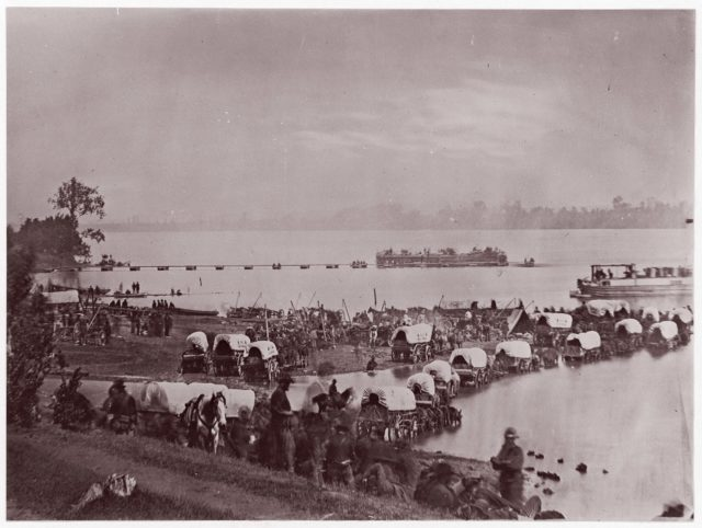 Wagon Train at Port Royal, Rappahannock River
